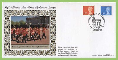 G.B. 1997 1st & 2nd Class S/A definitives on Benham First Day Cover
