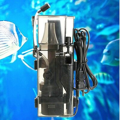 Removable Aquarium Protein Skimmer Pump Filter Salt Water Powerhead Acrylic 3.5W