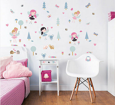 30 Wandsticker Wandtattoo Disney Fairies Tinkerbell Kinderzimmer