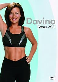 Davina McCall - The Power Of 3 DVD Keep Fit, Exercise, Workout,Fat Burning,Diet