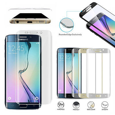 Clear Full Curved 3D Tempered Glass Screen Protector For Samsung Galaxy S6 Edge