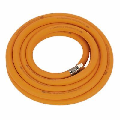 "Sealey AHHC538 Air Hose 5mtr x Ø10mm Hybrid High Visibility with 1/4""BSP Unions"