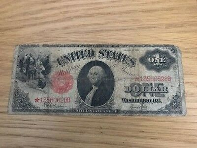 Fr. 39* 1917 $1 One Dollar *star* Legal Tender Note