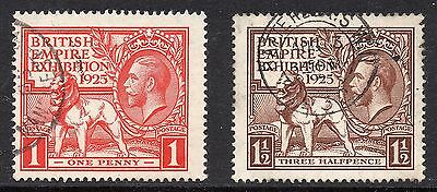 1925 GB WEMBLEY Stamps Set 2v SG432-433 Very Fine Used George V RE: X53