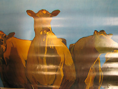 "Original 1968 National DAIRY Council Poster ""Cows Feeding"""