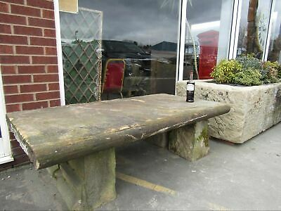 Surprising Reclaimed York Stone Garden Bench Table 71 Long X 3Ft Cjindustries Chair Design For Home Cjindustriesco