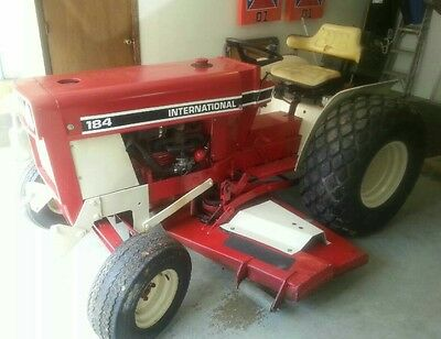IH International Harvester Low Boy Tractor 184 6' Mower Deck 70's vintag