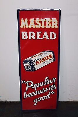Vintage Master Bread Popular Because it's Good Consolite Tin Advertising Sign
