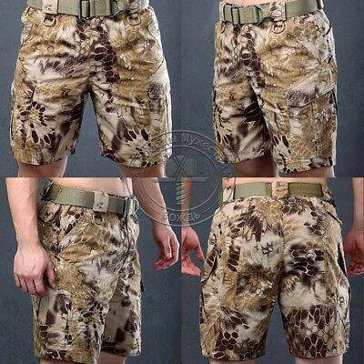 Men's Military Outdoor Shorts Camo Hiking Trousers Tactical Work Pocket Pants