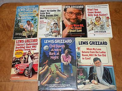 Lot of 7 Lewis Grizzard books - HB/PB - humor