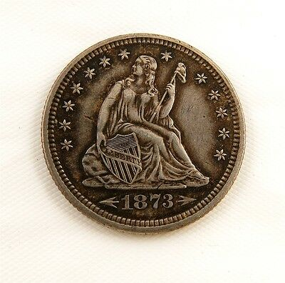 1873 Seated Liberty Silver Quarter with Arrows