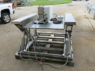 Stainless Steel Roll On Hydraulic Scissors Lift 4000 LB  Sharp