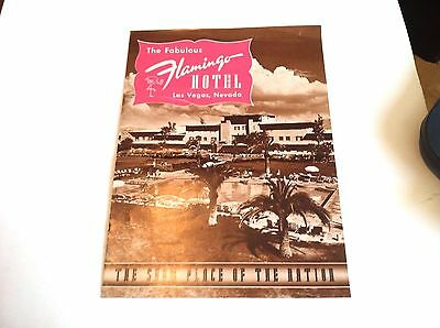 "Early 1950's Magazine - "" THE FABULOUS FLAMINGO HOTEL LAS VEGAS, NEVADA """