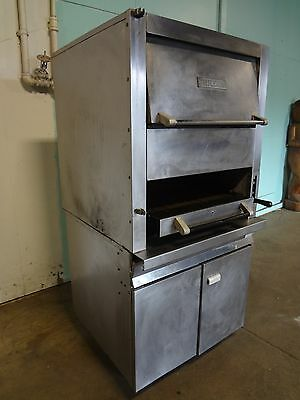 """Heavy Duty Commercial """"vulcan""""  Natural Gas Char Broiler/salamander On Casters"""