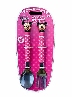 Disney Minnie Mouse Fork and Spoon Flatware Set Disney 465398111996