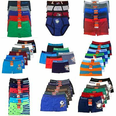 89d2e4c73942 6 JUNIOR BOYS Knocker Seamless Boxer Briefs Shorts Underwear S,M,L ...