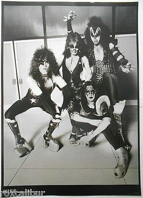 KISS Ace Frehley Gene Simmons Amsterdam 1976 33 X 23 Inch Black & White POSTER