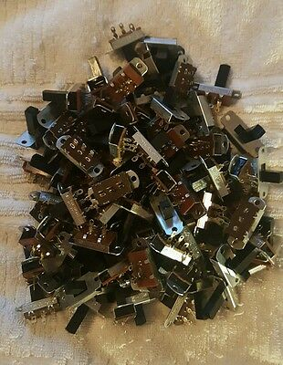 100 Slide Switch Switches 2 Sizes 4A 125V And 1.5A 250V