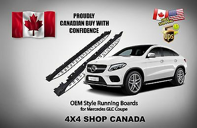 OE STYLE MERCEDES GLC Coupe RUNNING BOARDS SIDE STEP BARS NERF BAR