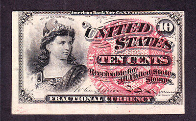 US 10c Fractional Currency 4th Issue FR 1258 XF (-002)