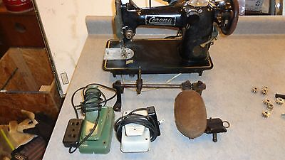 Rare Corona Vintage Electric Sewing Machine With Accessories