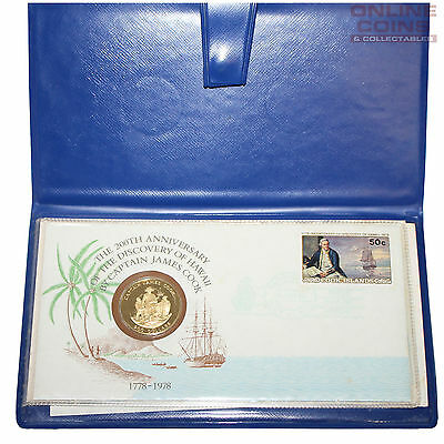 1978 Franklin Mint Cook Islands $200 Gold Coin with Official Numismatic FDC