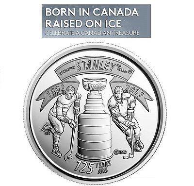 1892 - 2017 CANADA 25 Cents (QUARTER) 125th Anniversary of the STANLEY CUP Coin