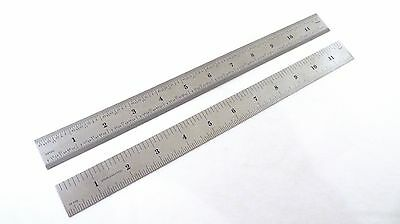 "2 Each Pair Taytools 12"" Machinist Ruler Rule 4R (8th 16th 32th 64th) Stainless"