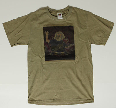 Grateful Dead Jerry Garcia Playing Guitar S Shirt - Psychedelic Test Print Small