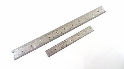 "Taytools Set 6"" & 12"" Machinist Ruler Rule 4R (8th 16th 32th 64th) Stainless"