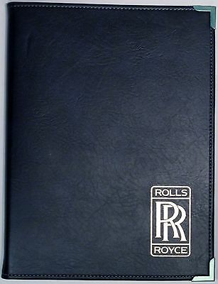 RARE! Vinyl ROLLS ROYCE Logo Refillable Letter-Size Writing Tablet Cover NOS