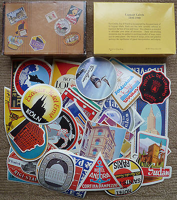 Reproduction Luggage Labels Stickers Original Box 46 Vintage Hotel Motel Decals