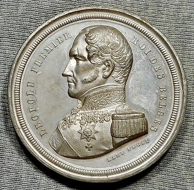 Large 1856 Belgium 25th Anniversary Of The Coronation Of King Leopold I Medal
