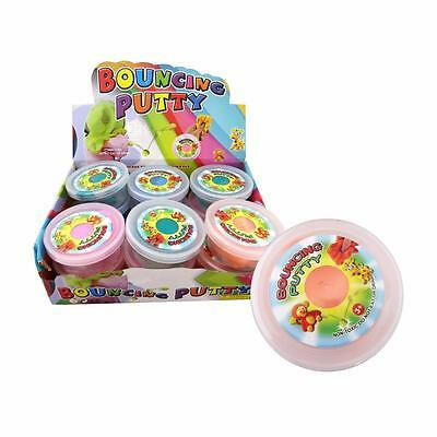 Bulk Lot x 6 Bouncing Putty in Tubs Mixed Colors Kids Party Favors Novelty Toys
