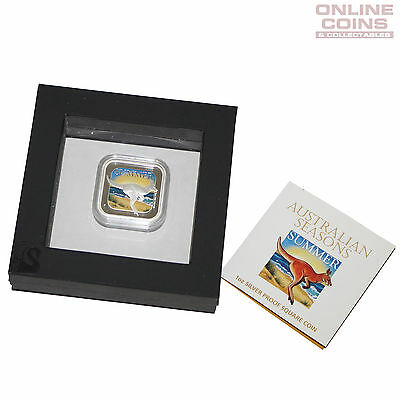 2013 Perth Mint Australian Seasons 1oz Silver Proof Square Coin - SUMMER