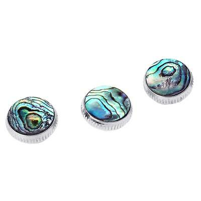 3pcs Chrome Plated Abalone Shell Trumpet Finger Buttons Musicians Collection