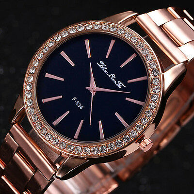 e111ed046353 Fashion Rose Gold Tone Ladies Watches Women Softech Quartz Wrist Watch HOT