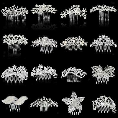 Bridal Wedding Beautiful Crystal Hair Comb Hair Clip Girls Hair Headpieces