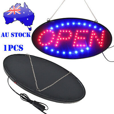 Neon Lights LED Animated Open Sign Customers Attractive Store Shop Sign AU Plug