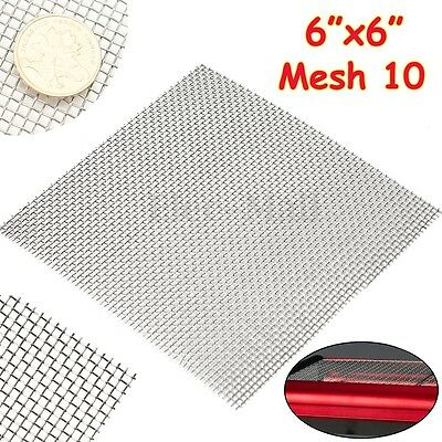 Stainless Steel  6'' x 6'' 304 10 Mesh Filtration #10 Wire Cloth Screen