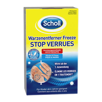 Scholl Warzenentferner Freeze Vereisungsspray Warzenstift 16 Sticks (80ml)