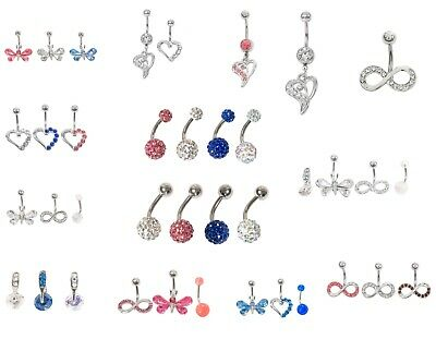 Belly bars bar navel ring body sets/ single piercing surgical steel ferido 316L