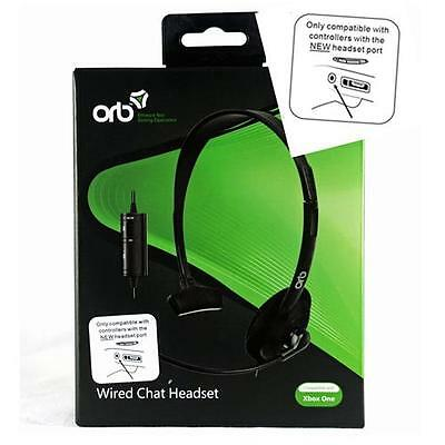 Official ORB Wired Chat Headset for Microsoft XBox ONE X1 Black BRAND NEW