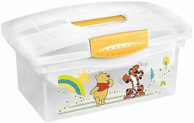 Solution NURSERY CHANGING BOX WINNIE THE POOH Nappy/Diaper Storage Tub BN