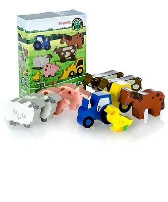 Tractor Ted Farm Toys - Wooden Animals *OFFICIAL* Direct from Tractor Ted