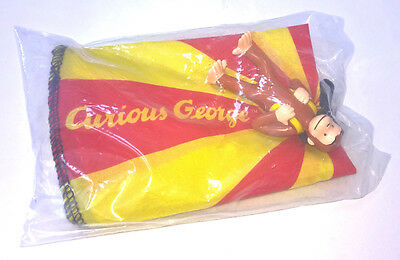 CURIOUS GEORGE MONKEY Parachute Toy NEW SEALED! Wendy's Kids Meal VINTAGE 2000