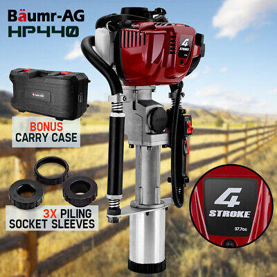 NEW Baumr-AG Petrol Post Driver - 33.5cc 4-Stroke Pile Star Picket Rammer Fence
