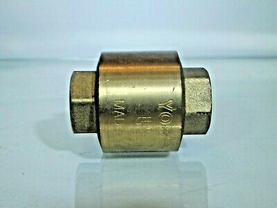 3/4 Bsp Female - Female Non return Valve in Brass, Check Valve for Air & Water