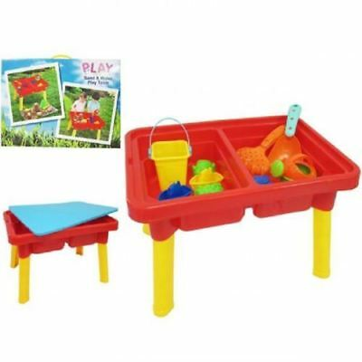 Rectangular Sand And Water Table Work Pit Desk Play Moulds Kids Toy Game 214051