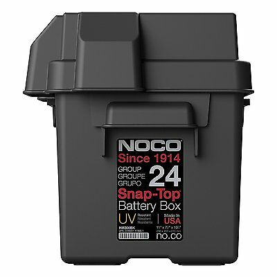 GENUINE NOCO HM300BK Caravan, Motorhome, Boat 75 & 85 amp Leisure Battery Box